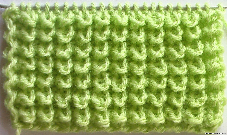 схема вязания узора смайлик