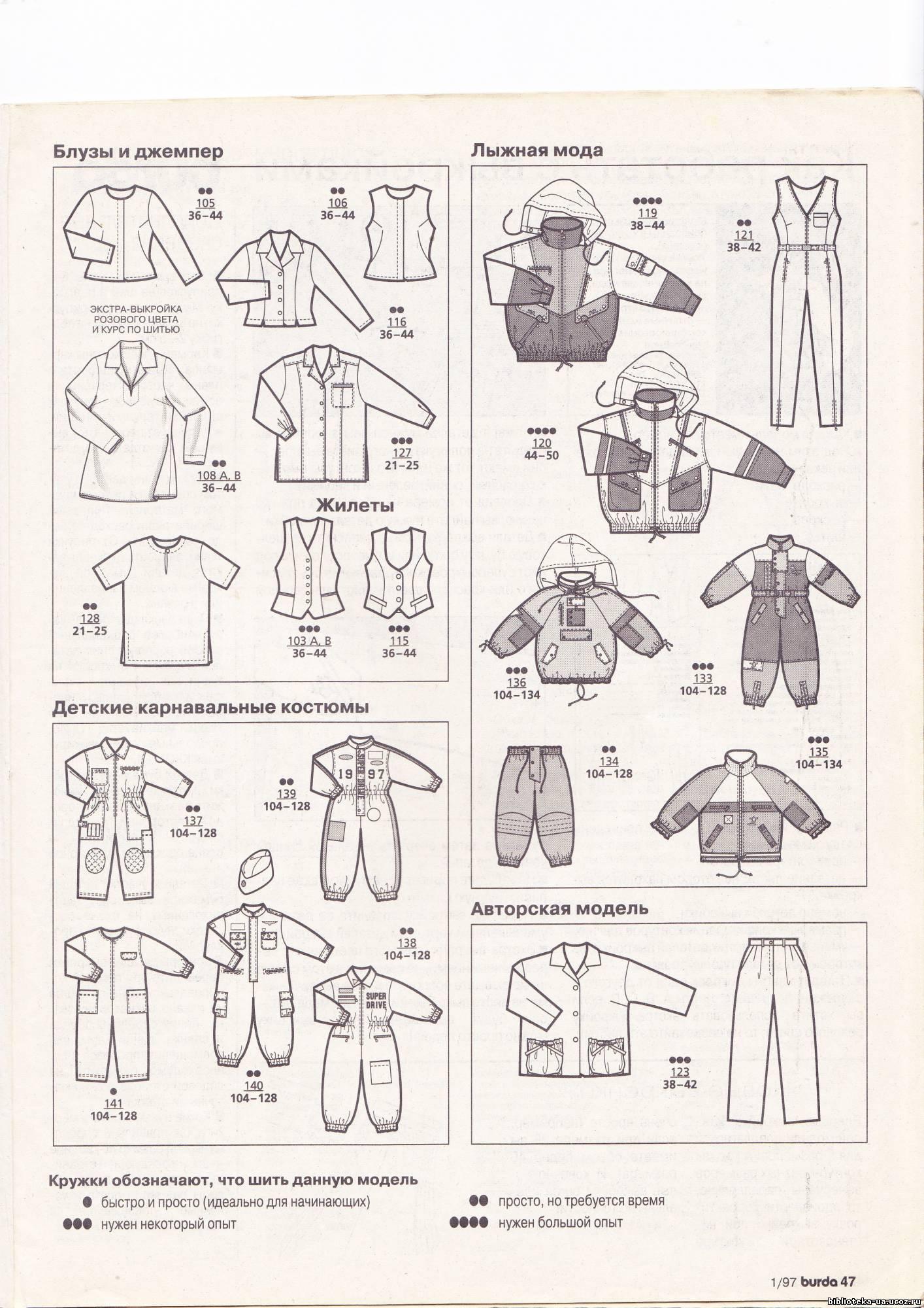 Выкройки Детской Одежды Бурда