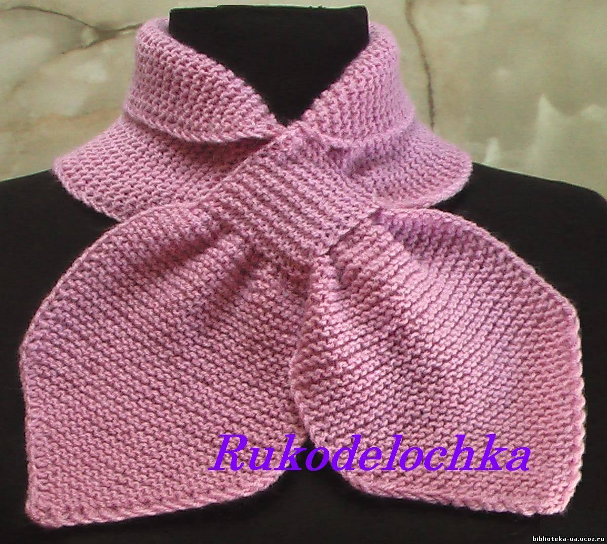 схема вязания шарфа с оленями