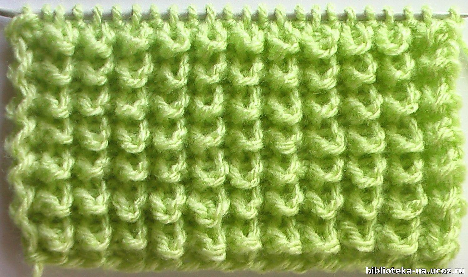 Вязание на спицах узор узелки